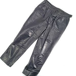 Danier Lined High Waisted Leather Pants